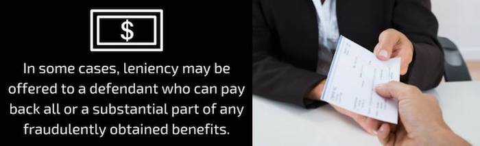 paying back fraudulent benefits